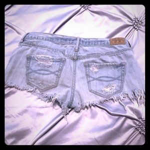 Abercrombie & Fitch Shorts - Abercrombie Destroyed denim shorts